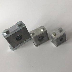 Chinese manufacturers  Hydraulic Pipe Clamp With Hexagon And Boolts Pp Pipe Clip